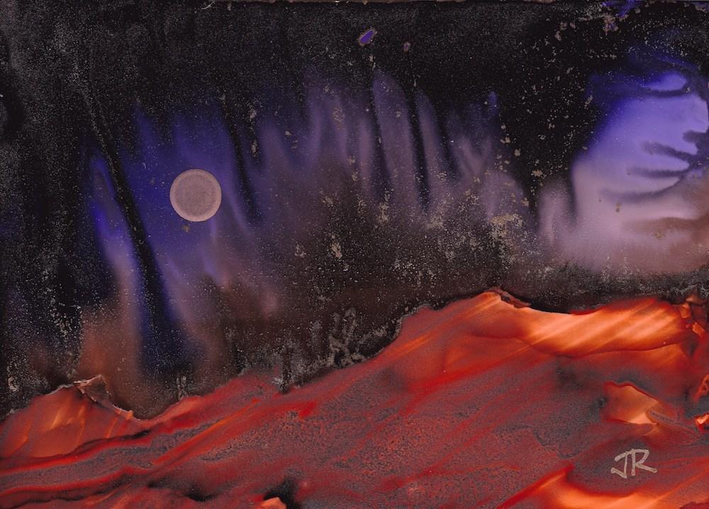 """Dreamscape No. 657"" original fine art by June Rollins"