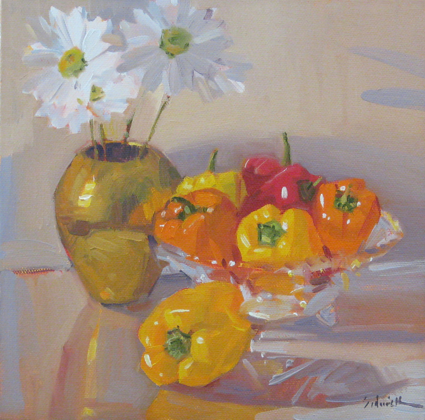 """Pepper Party"" original fine art by Sarah Sedwick"