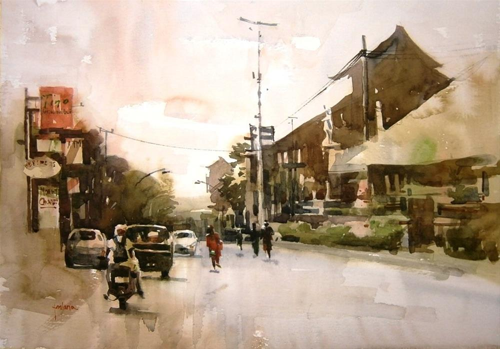 """Streets of Bali"" original fine art by Francesco Fontana"