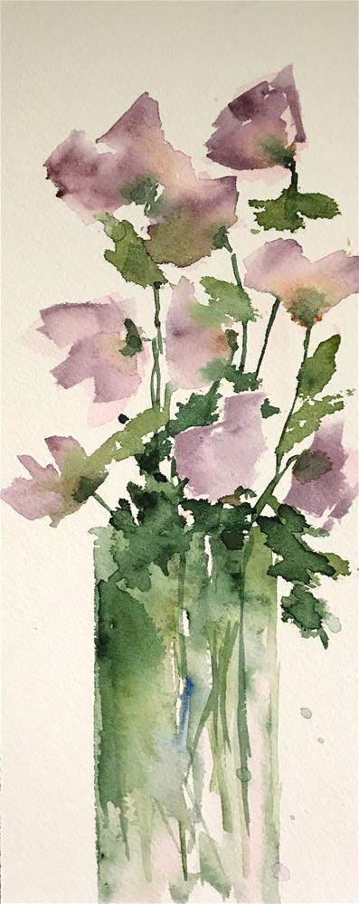 """purple flowers"" original fine art by Betty Argiros"
