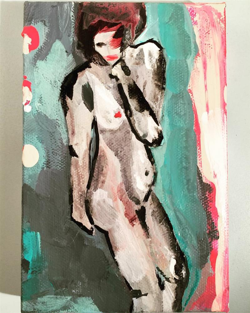 """83 Infinitely at Ease"" original fine art by Jenny Doh"