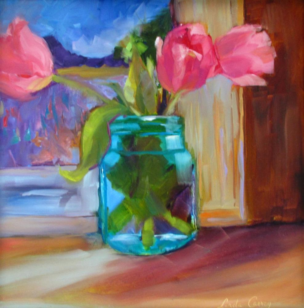 """Spring Faces"" original fine art by Linda Carney"