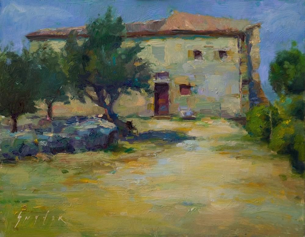 """""""Old Granary, Provence"""" original fine art by Julie Snyder"""