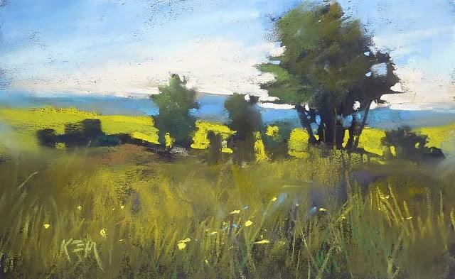 """A Sneak Peek at New Pastel Paper"" original fine art by Karen Margulis"