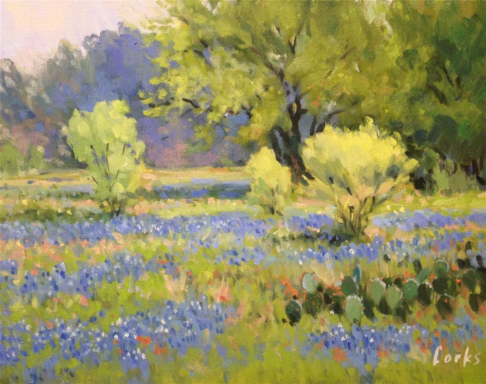 """""""Early Spring in Texas"""" original fine art by David Forks"""