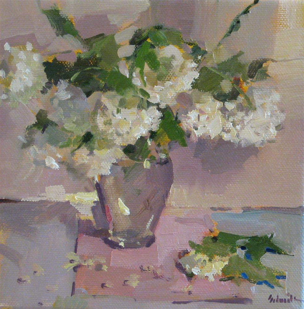 """Spring Snowballs"" original fine art by Sarah Sedwick"