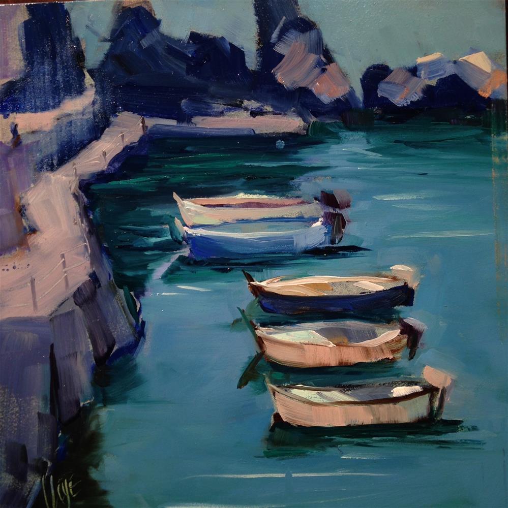 """""""#176 Cinque Terre, Manarola"""" original fine art by Patty Voje"""