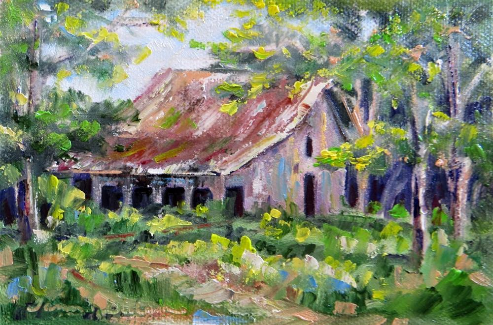 """South Side of Church Road Barn"" original fine art by Tammie Dickerson"