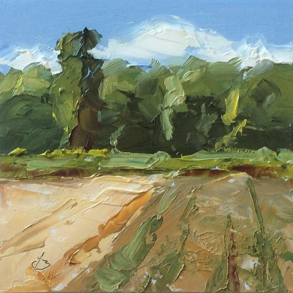 """EDGE OF THE FARM"" original fine art by Tom Brown"