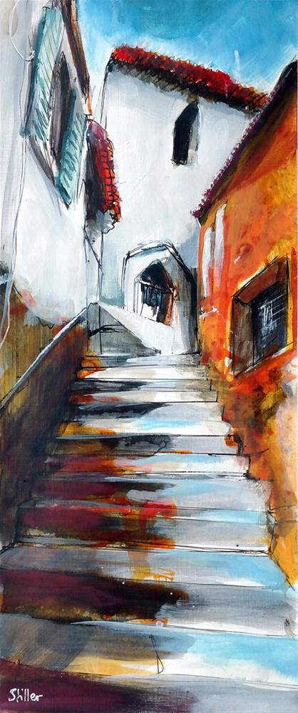"""2944 Stairpainting 01"" original fine art by Dietmar Stiller"