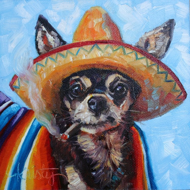 """""""AY! CHIHUAHUA"""" original fine art by Kristy Tracy"""