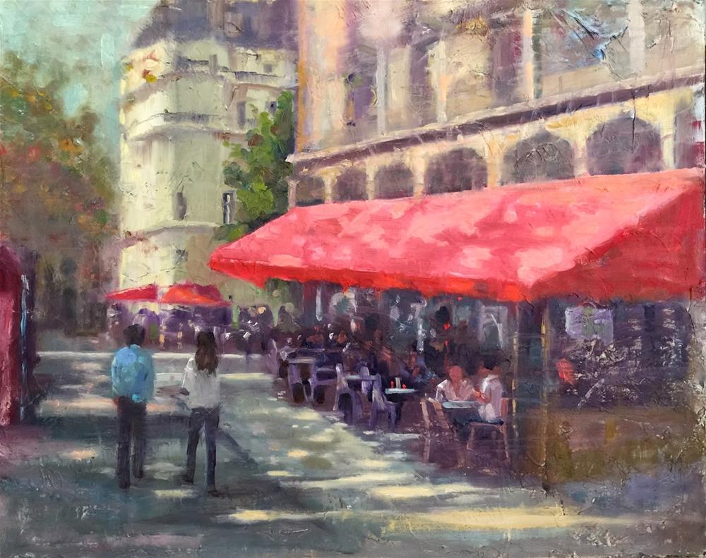 """Early Autumn, Paris, 20x16 And Thoughts on Light With Claude Monet"" original fine art by Ann Feldman"