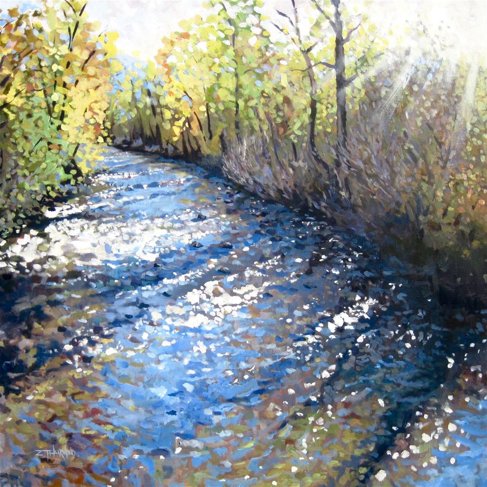 """Sun Valley Sun"" original fine art by Zack Thurmond"