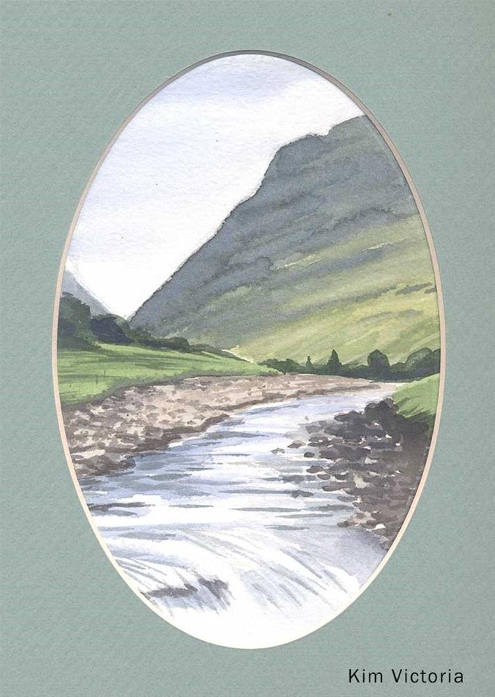 """""""Glen Coe River View, Scotland"""" original fine art by Kim Victoria"""
