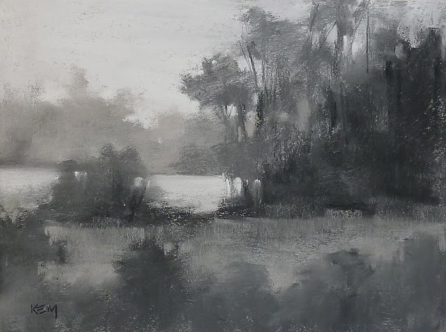 """""""Have You Painted in Black and White Lately?"""" original fine art by Karen Margulis"""