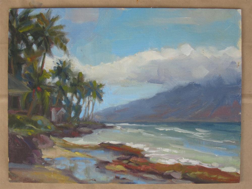 """""""Maui"""" original fine art by Leigh Alexandra Sparks"""