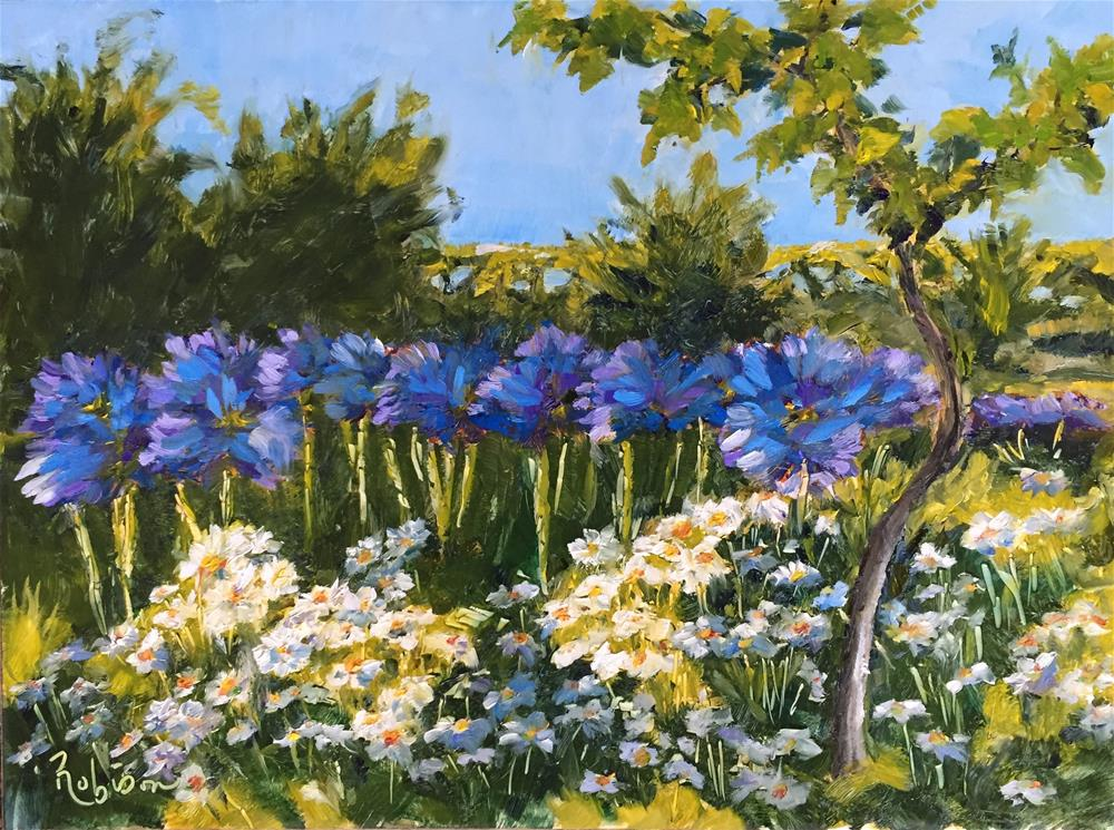 """Cimbrone Daisy Shadows"" original fine art by Renee Robison"