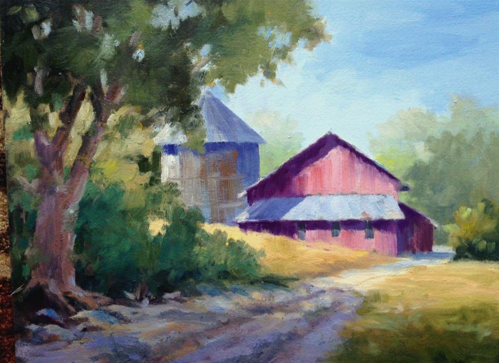 """The Farmstead"" original fine art by Tina Bohlman"