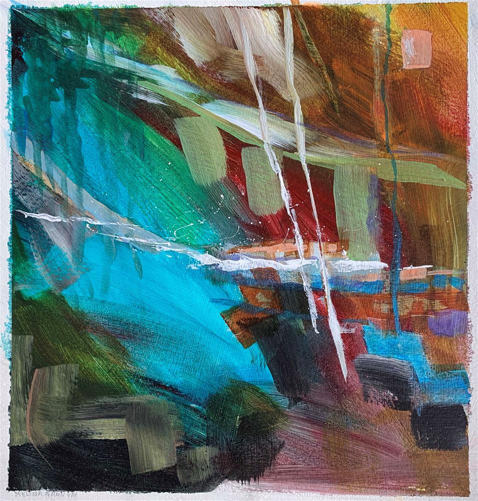 """Aqua Dreams"" original fine art by Melissa Gannon"