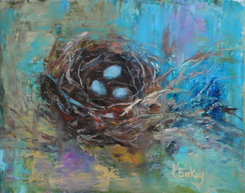 """Cardinal Nest"" original fine art by Kelly Berkey"
