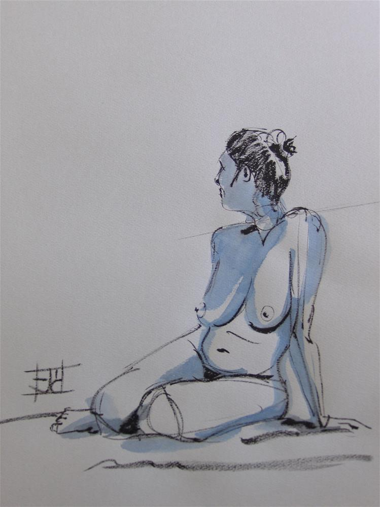 """Gestural Pose"" original fine art by Arron McGuire"
