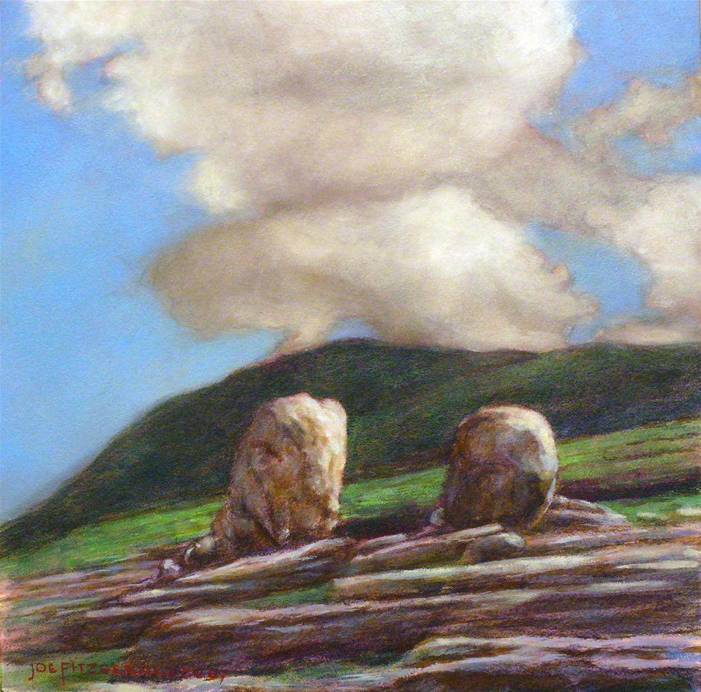 """On the Burren"" original fine art by Joe Fitzgerald"