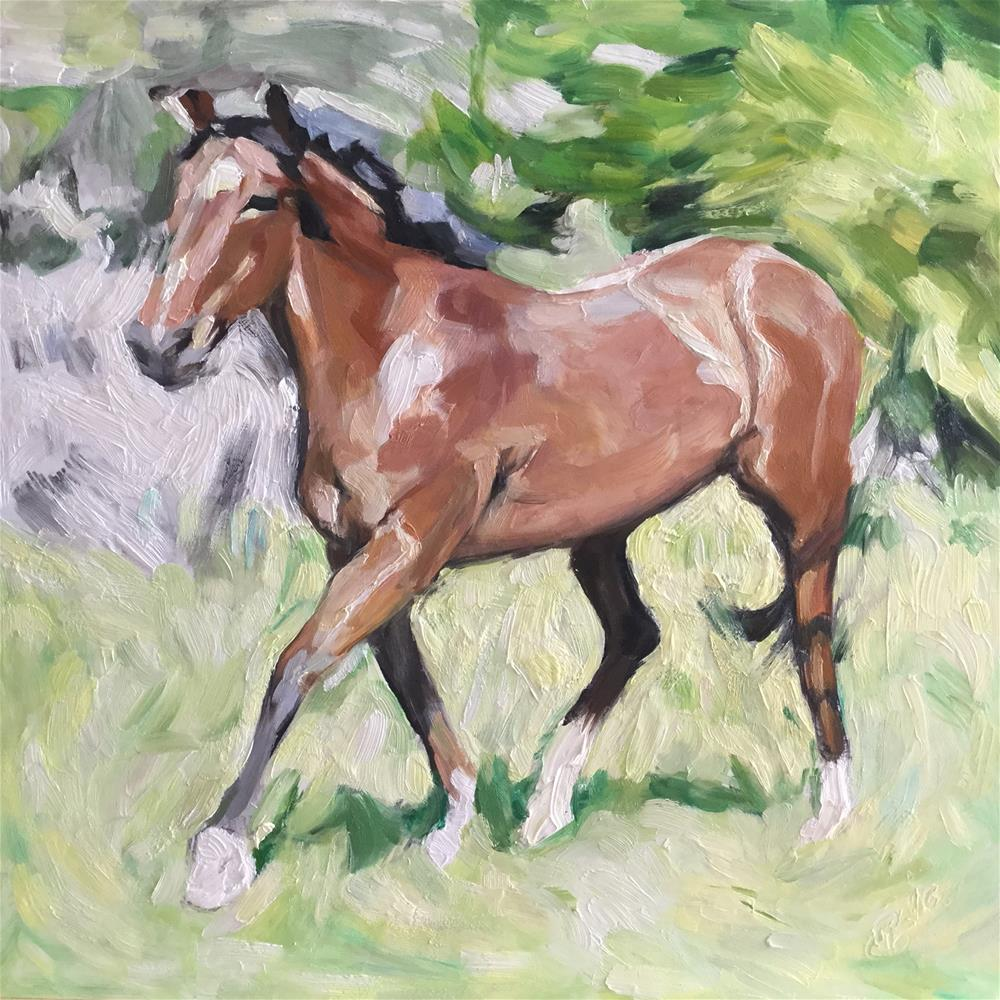 """Young Horse"" original fine art by Paula Howson-Green"