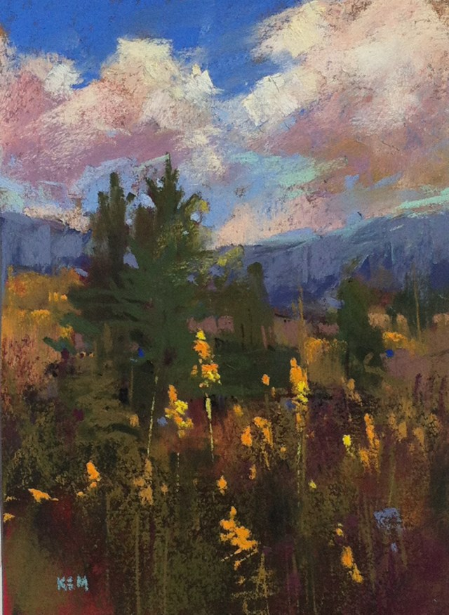"""Blogging from the Blue Ridge Georgia PaintOut"" original fine art by Karen Margulis"