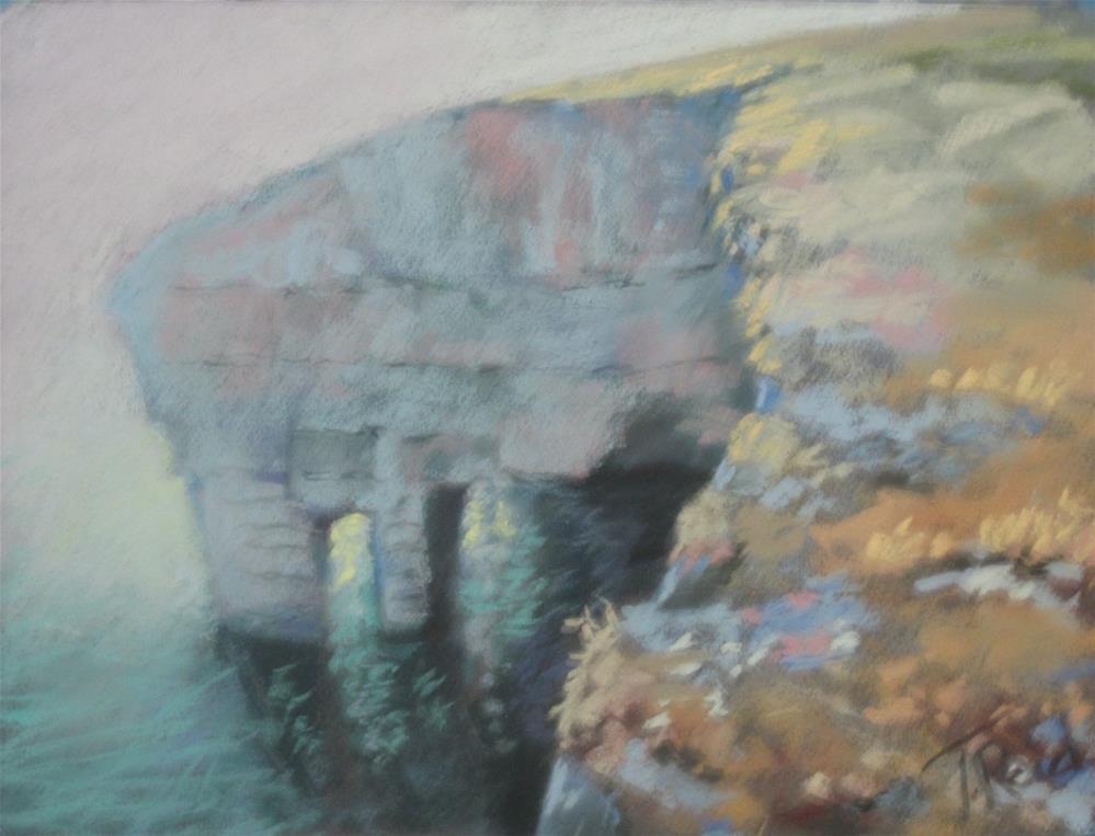 """Coastal Cliff"" original fine art by Toby Reid"