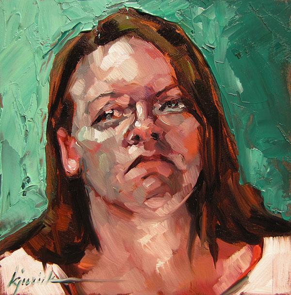 """100 Faces, No. 12"" original fine art by Karin Jurick"