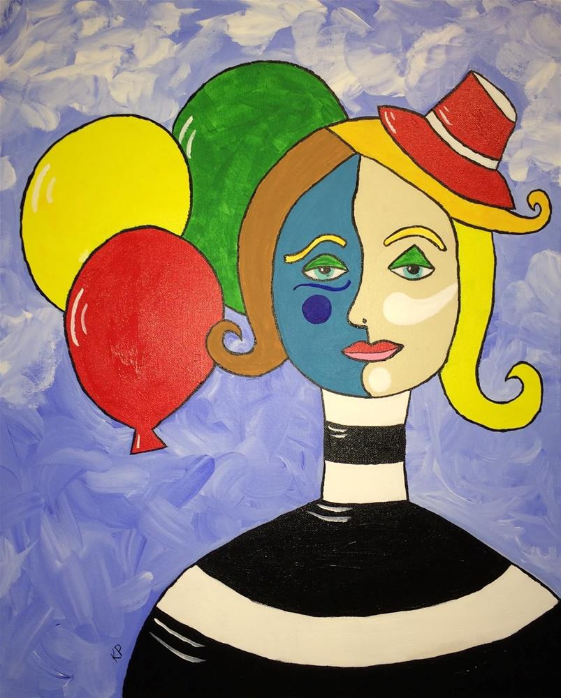 """The Clown"" original fine art by Kali Parsons"