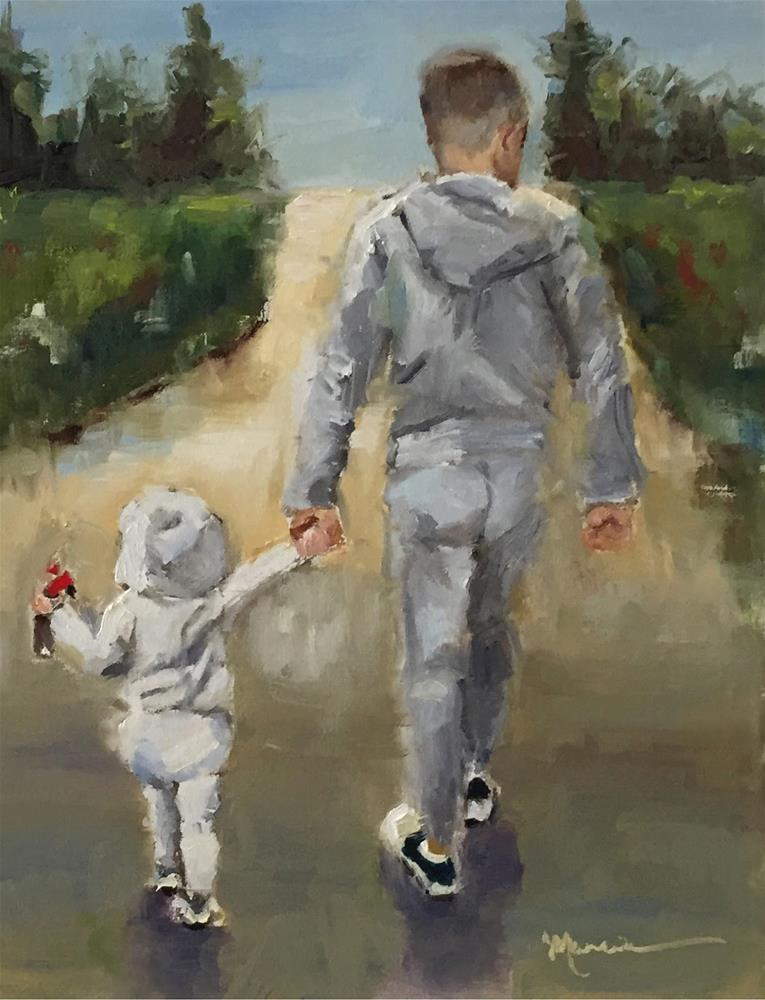 """""""Gilbertas and Daddy - SOLD"""" original fine art by Marcia Hodges"""