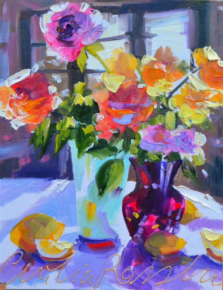 """ROOSTAFEL"" original fine art by Cecilia Rosslee"