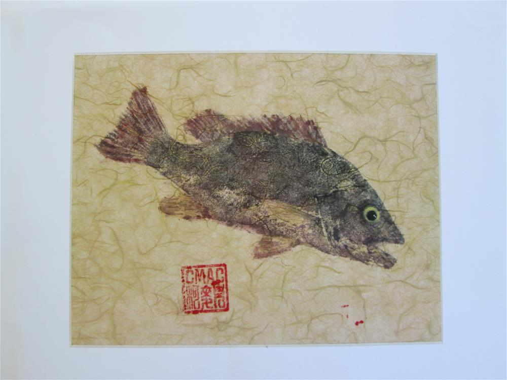 """Gyotaku Mangrove Snapper"" original fine art by Chris MacCormack"
