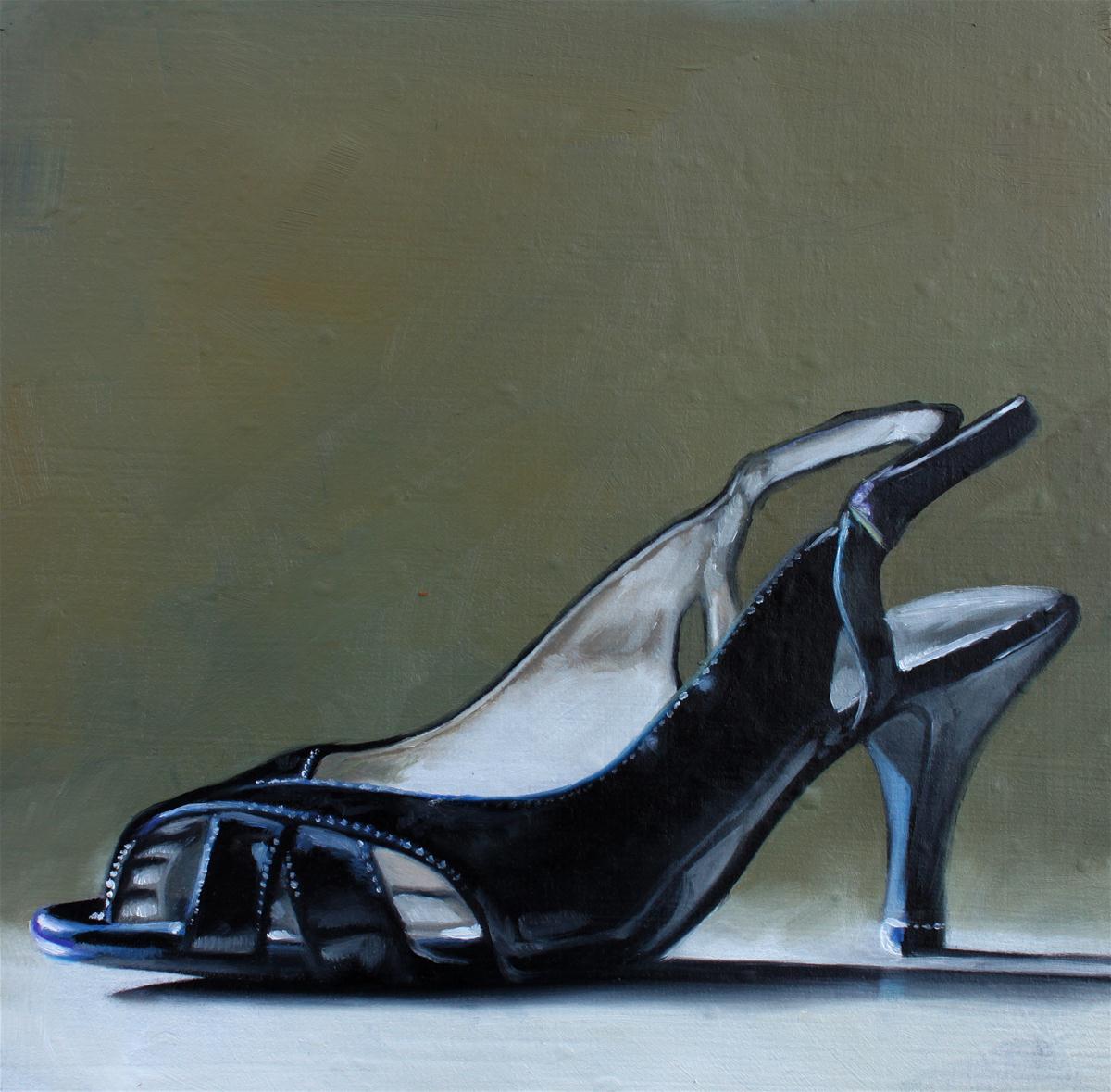 """""""Patent Heel"""" original fine art by Lauren Pretorius"""