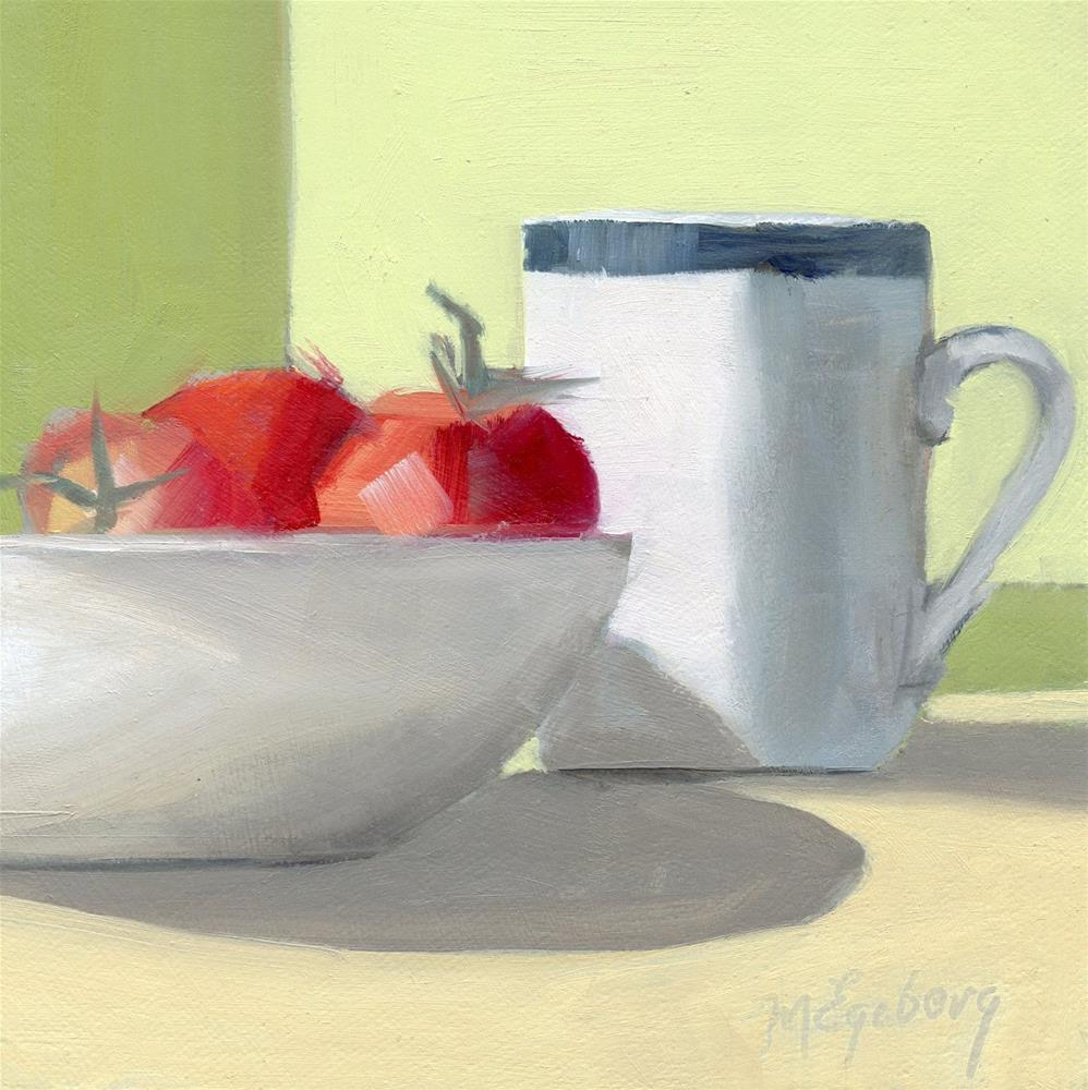 """""""Tomatoes on the Side"""" original fine art by Mitch Egeberg"""