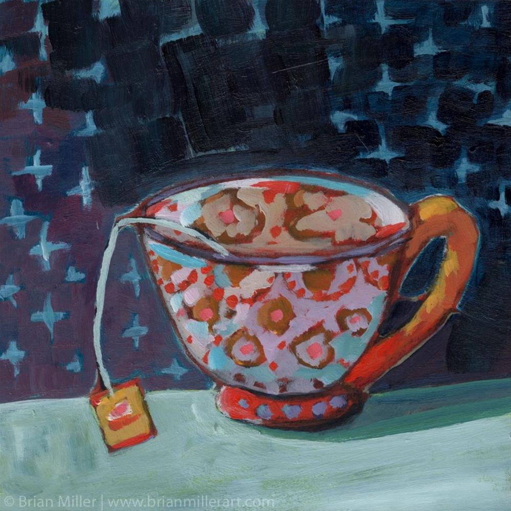 """Tea Alone (#373)"" original fine art by Brian Miller"
