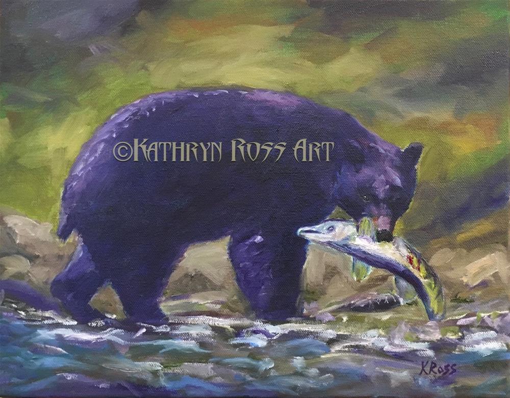 """""""Fishing"""" original fine art by Kathryn Ross"""