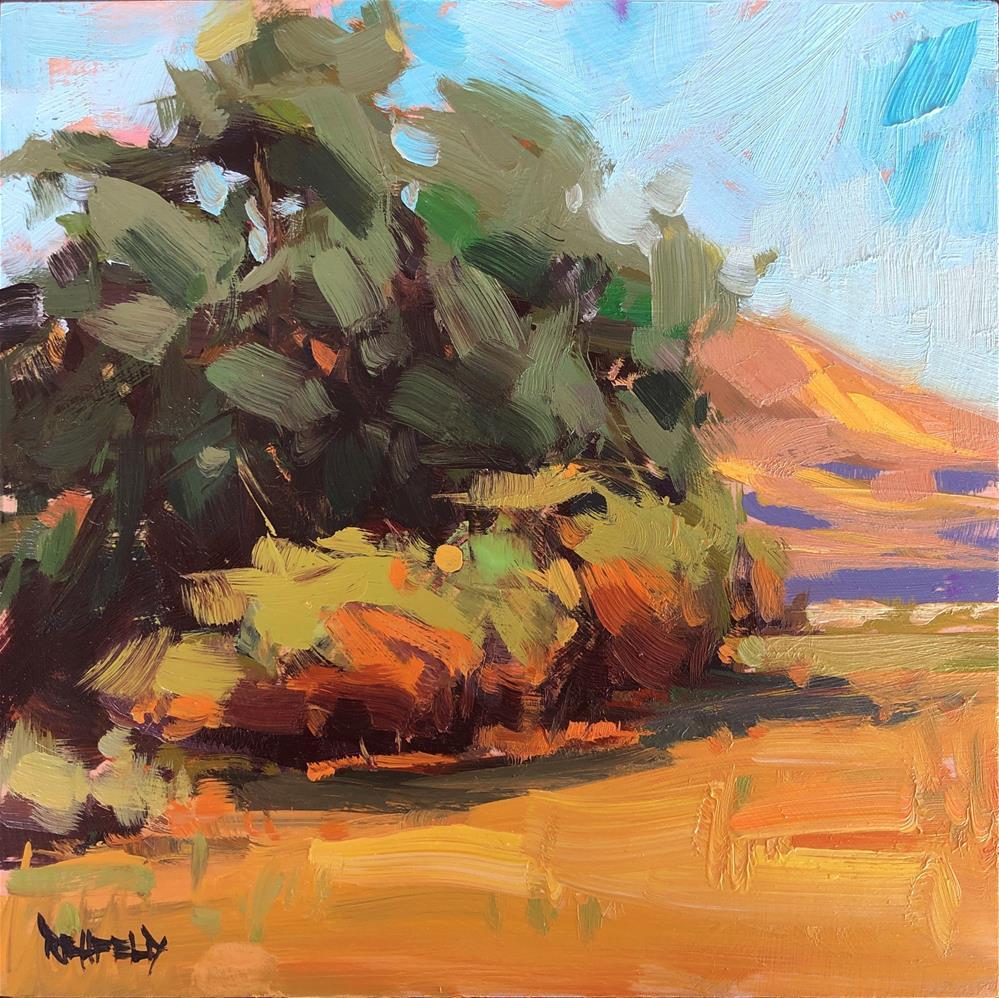 """""""High Desert Hills"""" original fine art by Cathleen Rehfeld"""