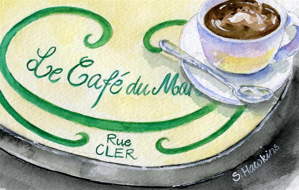 """Le Cafe du Marche"" original fine art by Sheryl Heatherly Hawkins"
