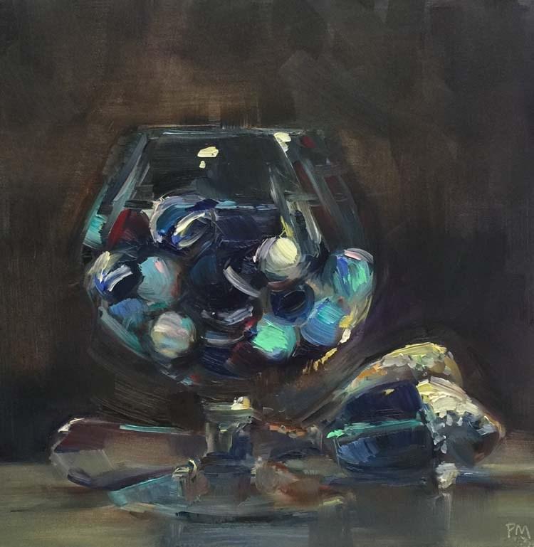 """The Essence of Opalescence"" original fine art by Patti McNutt"