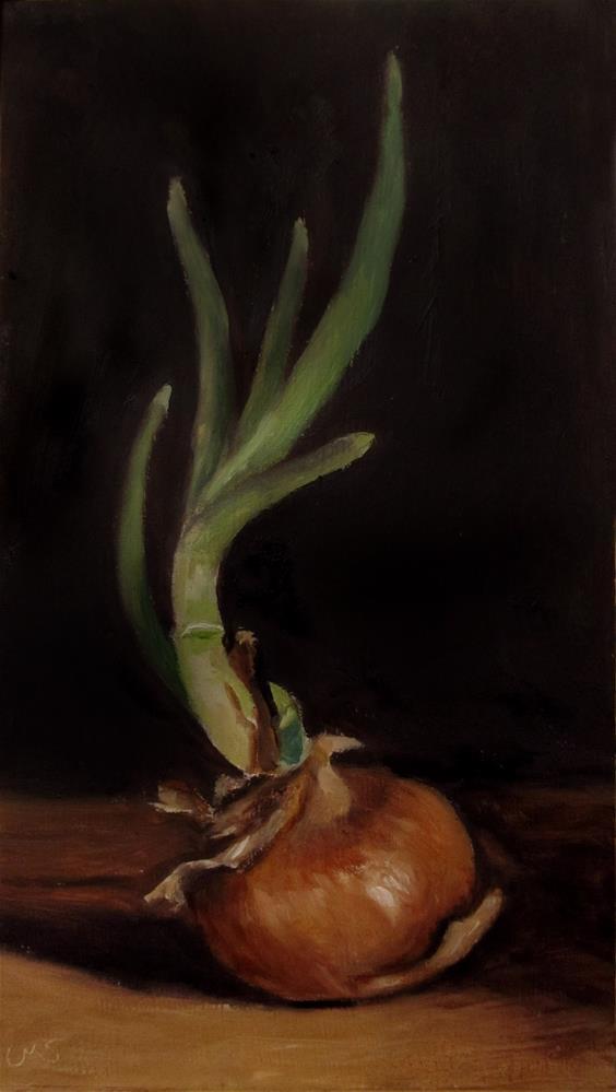 """""""Onion in Spring"""" original fine art by Ulrike Miesen-Schuermann"""