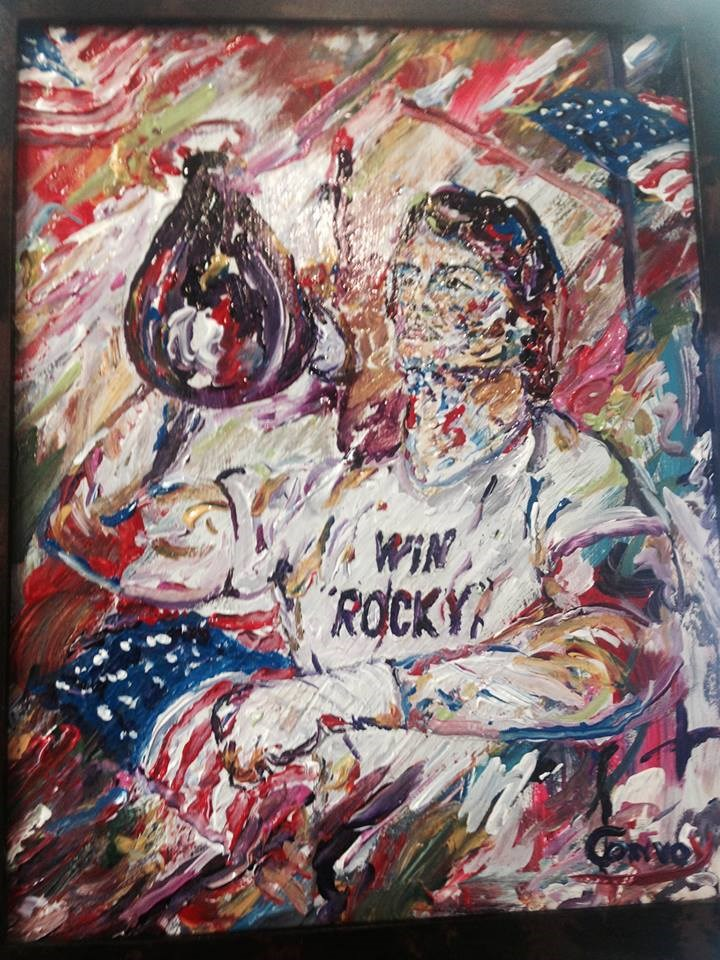 """Win Rocky"" original fine art by mark convoy"