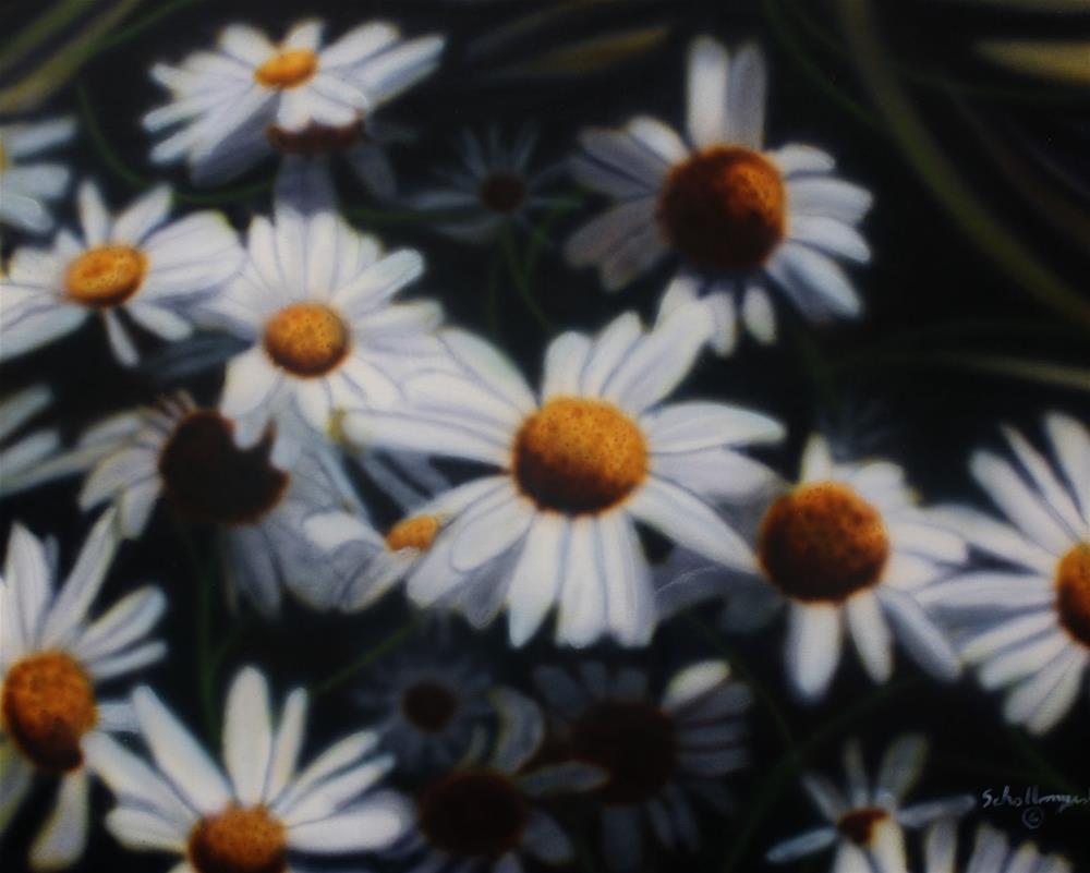 """Daisy Delight"" original fine art by Fred Schollmeyer"