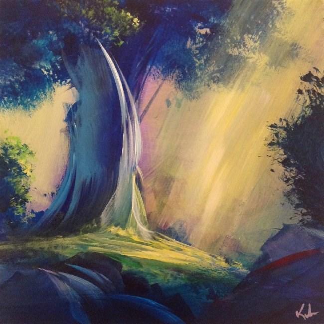 """""""Passed Again In Dreaming"""" original fine art by David Kuhn"""