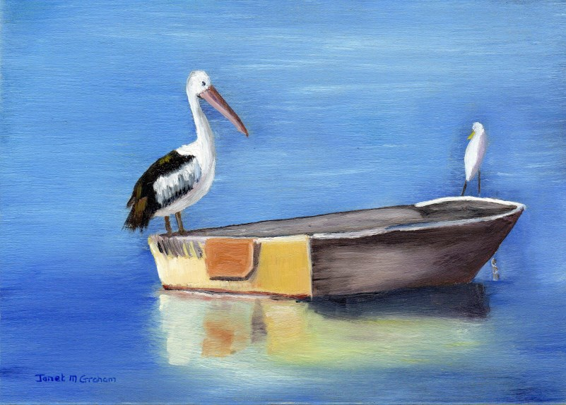 """All Aboard"" original fine art by Janet Graham"