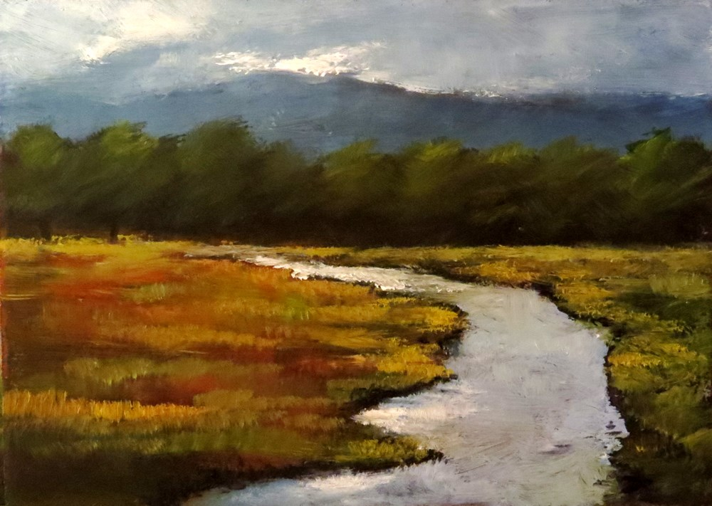 """Marshes"" original fine art by Bob Kimball"