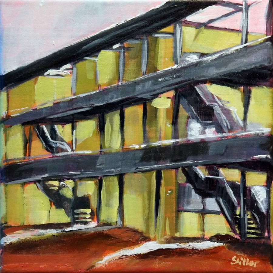 """""""1718 The Green House"""" original fine art by Dietmar Stiller"""