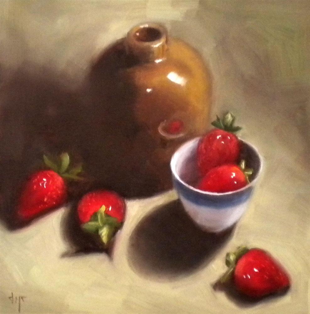 """""""Strawberry Shadows"""" original fine art by Darla McDowell"""