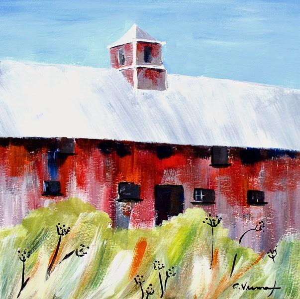 """Barn #13 - Broad Side of the Barn"" original fine art by Anna Vreman"